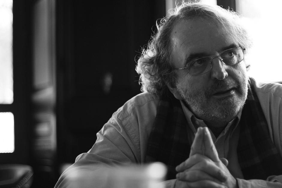 Jon Juaristi, en un momento de la entrevista (Foto: Mario Sánchez)