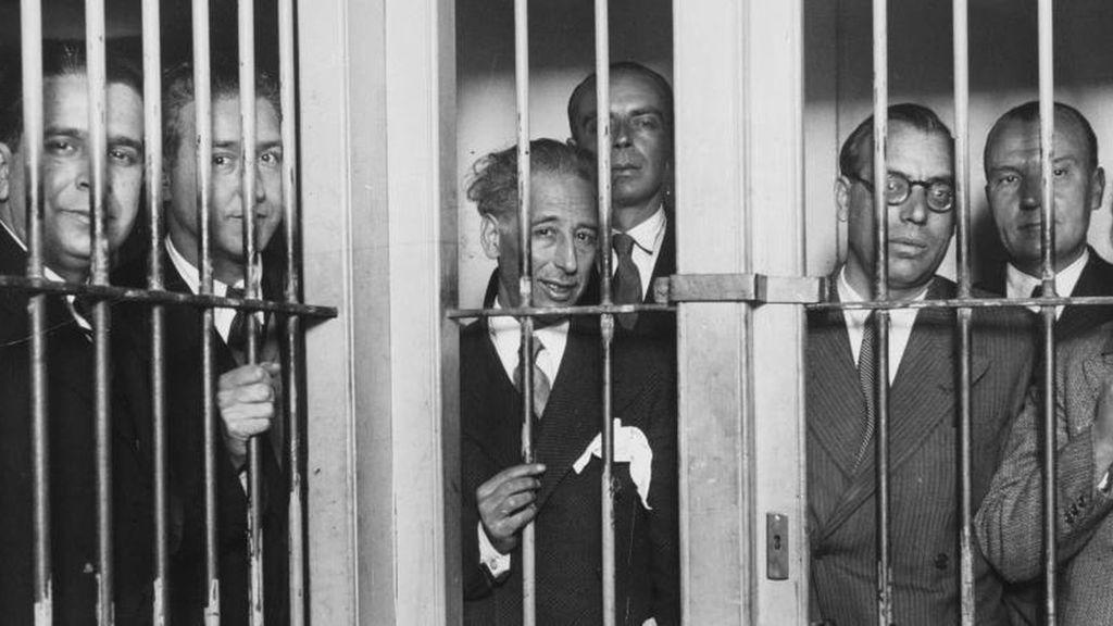 Lluis Compayns y el resto del Govern, en la carcel tras el pronunciamiento de 1934