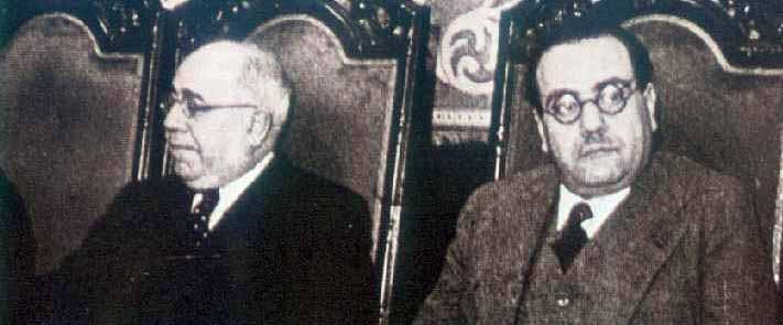 Manuel Azaña y Juan Negrín