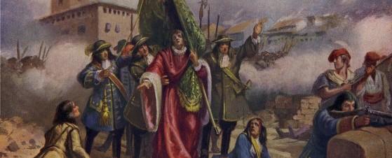 En el centro, Rafael Casanova, mito del nacionalismo.